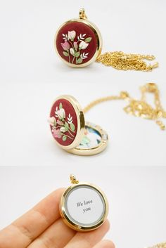 #personalizedlocket #photolocket #christmasgift #formom #forgrandma #wifegift #forsister #withphotos #personalized #forchristmas #weddinggift #birthdaygift #unique #etsyfinds #etsyshop #handmade #sculpted #polymerclay #handembroidery #clayembroidery #roses #pinkroses #burgundy #burgundynecklace #locketnecklace #meaningful #giftwithmeaning #jewelrywithmeaning #secretmessage #keepsake #secretcompartiment Unique Gifts, Great Gifts, Mom Birthday Gift, Locket Necklace, Jewelries, Gifts For Wife, Pink Roses, Wedding Gifts, Polymer Clay