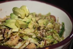 POP Nutrition | Caramelized Onions, Brussels Sprouts and Chicken Saute