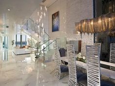 A symphony of textures -- Jade Ocean Penthouse by PfunerDesign - Style Estate -