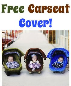 Free Super Cute Carseat Cover! {just pay s/h} ~ these make great gifts, too! #baby