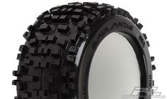 """The Badlands tire offers motocross style tread that is for adrenaline pumping Monster Truck and Truggy bashing. The Badlands tread is made strictly for the motocrosser in you. Its oversized grass and dirt shredding lugs offer you the ultimate in performance under all-terrain type conditions.  Now that it fits all Traxxas® 3.8"""" wheels and Desperado 3.8"""" (Traxxas Style Bead) Wheels you have even more options to tear up the terrain! Mfg part # for mounted version 1178-11"""