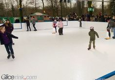 Outdoor Ice skating Synthetic Ice Rink, Outdoor Ice Skating, Skate, Street View