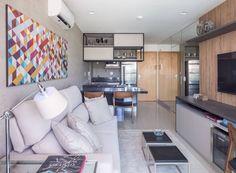 Apartamento de 48 m² traz 6 ótimos truques para ganhar espaço em casa (De…