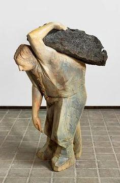 Art from Spain - Francisco Leiro Lois - 1957 Pontevedra. Stone Sculpture, Modern Sculpture, Sculpture Art, Found Art, Rock Art, Wood Carving, Art Forms, Sculpting, Pottery