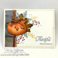 Stamping Rules!: Thankful Beyond Measure card