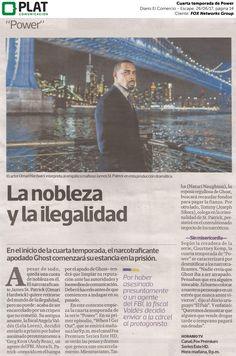 FOX Networks Group: Cuarta temporada de Power en el diario El Comercio de Perú (26/06/2017)