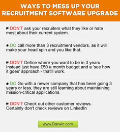 A few Ways to Ruin your Recruitment Software Upgrade Recruitment Software, Mess Up, Ruin, Insight, Education, Ruins, Onderwijs, Learning