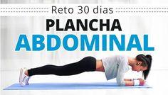 """Reto fitness de 30 días para un abdomen plano. Ejercicio: Plancha abdominal (Plank) Como hacer el """"Reto plancha 30 días"""""""