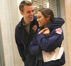 Casey and Dawson- ohh they are so cute!! Follow tvcaptain.blogspo... or facebook tvcaptain for more photos of Chicago fire and other shows