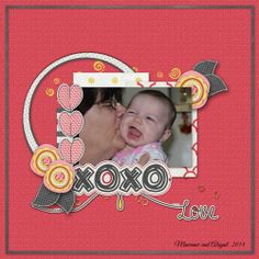 Hello Love page Kit by Heidi Nicole
