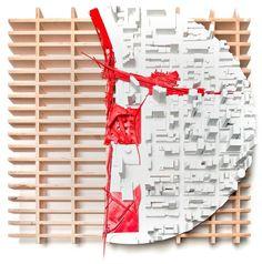 Art Forum by Pavlo Kryvozub, via Behance Architecture Mapping, School Architecture, Landscape Architecture, Architecture Models, Architecture Design, Model Sketch, Arch Model, Map Design, Visual Communication