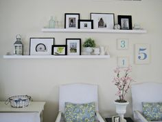 photo ledge, ikea Ribba shelf