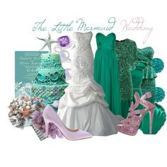 """The Little Mermaid Wedding"" by jami1990 on Polyvore"