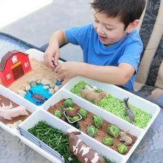 IKEA STÖDJA Hack: The best ideas with the cutlery tray – frisuren schnitt Fine Motor Activities For Kids, Infant Activities, Animal Crafts For Kids, Diy For Kids, Toddler Fun, Toddler Crafts, Diy Hacks, Small World Play, Farm Theme
