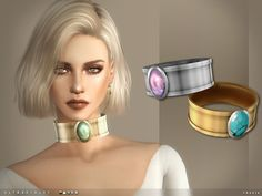 Sims 4 CC's - The Best: Ultraviolet Choker by Toksik