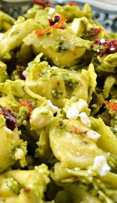 Tortellini Pesto Salad Recipe ~ A perfect cold pasta salad to enjoy on a warm day. It is made in the morning or night before and refrigerates until dinner time.
