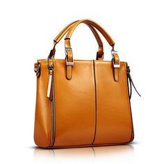 3bdb44024e5 2015 nueva moda de cera de cuero grieta bolso simple balde real bolso de  los bolsos bolso Messenger bag envío gratis