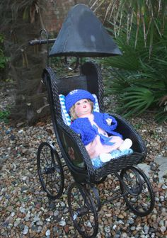 Old Unique Vintage /Antique Dolls Pram  Wrought by MEMsArtShop