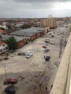Taken morning after Hurricane Sandy from building rooftop in Long Beach, L.I.