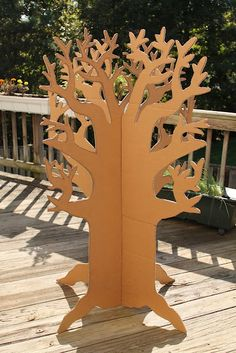 tree cardboard for kids to make create art and decorate-kind of hard to cut out of cardboard. And make sure it's thick enough to be sturdy.