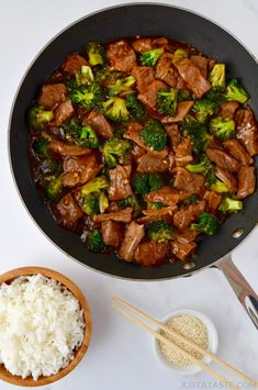 Easy Beef and Broccoli will be on your dinner table in 20 minutes or less! | recipe from justataste.com #recipe #beef #quickandeasy