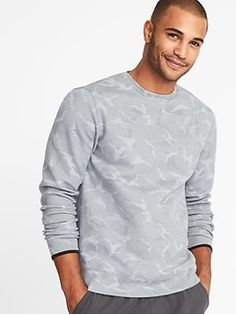Old Navy Go-Dry Double-Knit Camo Sweatshirt for Men Camo Sweatshirt, Vogue Men, Mens Activewear, Shop Old Navy, Winter Outfits, Winter Clothes, Double Knitting, Mens Suits, Active Wear