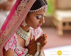 pink lehenga Indian wedding