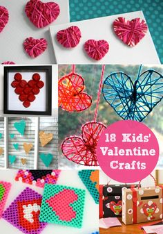 18 #Valentines crafts for kids. #valentinesday