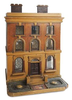 Antique Dolls Houses, nice style, great old colors, good detail. .....Rick Maccione-Dollhouse Builder www.dollhousemansions.com