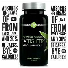 Simply take It Works Fat Fighter up to an hour AFTER eating, and it will absorb some of the fat and carbohydrates from your food so that your body doesn't.Have a sweet tooth? A carb craving? It's okay to indulge every once in a while when you have Advanced Formula Fat Fighter with Carb Inhibitors!  Call or Text me for more info Jenny Fralin (276) 226-3595  #loseweight #lowcarb #carbs #fatloss #fitness #health #wellness #natural #goals #fitgoals #fitlife #beauty #beautysecrets #thinspo #inspo