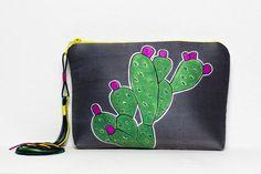 Pochette by Marta Fofi cactus borsa di stoffa di Martafofiartworks