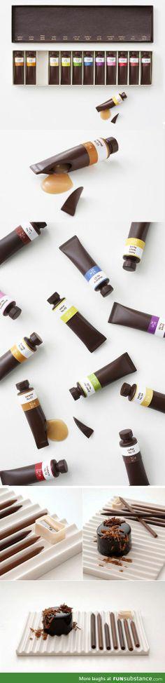 Edible chocolate art supplies