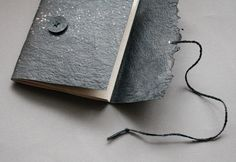 V FOR BOOKS - a bookbinding blog • Wraithis a new black notebook made by me. These...