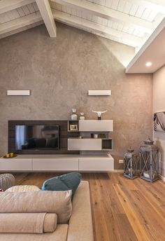 Colors that warm the heart modern living room by studio moltrasio - snc modern Interior Design Living Room, Living Room Decor, Country Style Living Room, Contemporary Interior, Home And Living, Modern Living, Home Furniture, Style At Home, Sweet Home
