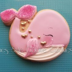 Whale Cookies, Fish Cookies, Fancy Cookies, Valentine Cookies, Iced Cookies, Cute Cookies, Cupcake Cookies, Cookies Et Biscuits, Cupcakes