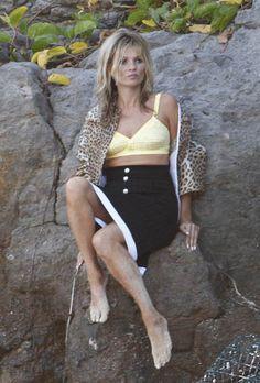 St Barts babe Kate Moss flaunts bikini body on the beach