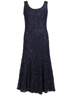Navy Lace Cornelli Dress £235 - Luxury lace is crafted to fit and flatter for that oh-so-special occasion. Worn solo or with matching V-neck single button jacket, this will turn heads for your fairytale wedding. 135cm from shoulder neck point to hem.  — at http://www.chescadirect.co.uk/products/1415-navy-lace-cornelli-dress-pre-order.