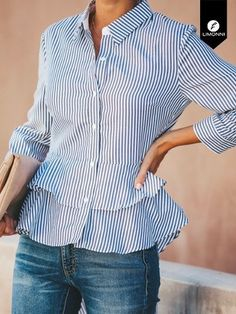 Would make a good DIY project with oversized shirts Blouse Styles, Blouse Designs, Stylish Tops, Business Casual Outfits, Refashion, Fashion Outfits, Clothes For Women, Need Supply, Fashion Design