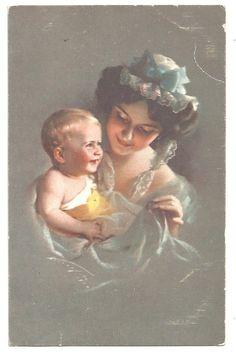 3616), Frau mit Kind, Kleinkind, 20er | eBay