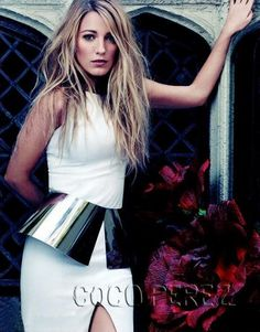Metallic Peplum + Blake Lively = Amazing!