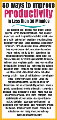 50 easy, quick productivity hacks that will help improve time management right away! Build good habits that you can start immediately and enjoy a lifetime. Self Development, Personal Development, Tv Writing, Good Time Management, Improve Productivity, Get Your Life, Good Habits, Self Improvement, Picture Quotes