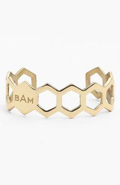 Such a unique monogram cuff bracelet! #bowsgg