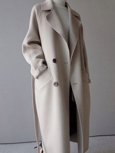 Women Wide Lapel Belt Wool Blend Long Coat - Women Trench Coats - Ideas of Women Trench Coats - 2018 Winter Coat Women Wide Lapel Belt Pocket Wool Blend Coat Oversize Long Trench Coat Outwear Wool Coat Women Winter Overcoat, Long Overcoat, Long Wool Coat, Long Trench Coat, Camel Coat, Long Coats, Winter Coats Women Long, Women's Coats, Trench Coats Women Long