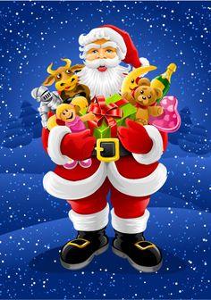 Free Christmas Santa vector Graphics | Free Vector Graphics