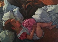 """Sleeping"" #oil #oiloncanvas #painting #art #arte #realismo #realism #baby #chile #portrait #retrato"