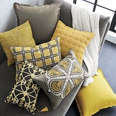 8 Determined Tips: Sewing Decorative Pillows Home decorative pillows floral cushion covers.Decorative Pillows With Words Guest Bedrooms decorative pillows on bed purple.Decorative Pillows On Bed Shabby Chic. Living Room Pillows, Living Room Grey, Couch Pillows, Throw Pillows, Living Room Decor Yellow And Grey, Accent Pillows, Pillow Headboard, Decor Pillows, Diy Room Decor