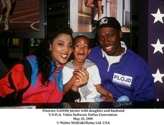 Flo jo with family