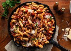 One Skillet Sausage Penne Spicy Sausage Pasta, Sausage Pasta Recipes, Grilled Sausage, Sausage Bread, Sausage Soup, Penne Pasta, Pasta Grill, Johnsonville Sausage Recipes, Pasta Dinners