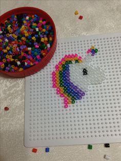 Hama beads - unicorn