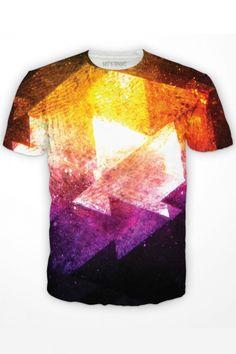 Galaxy Triangles T-Shirt designed by Colin Eldridge